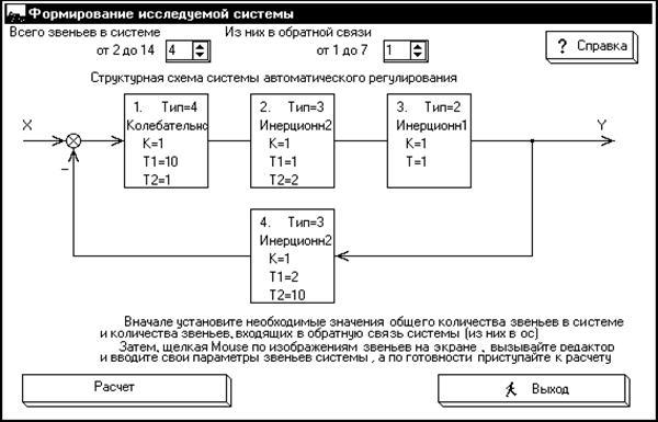 структурной схемы системы