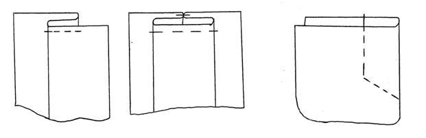 Обработка складок у юбки
